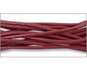 Leather Cord Garnet 2mm (Priced per Yard)