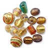 Glass Bead Gold Foil Mix 8-12mm (30 Grams)