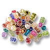 Color Lined Bead Assortment 10-14mm (100 Grams)