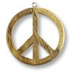 Pendant - Peace Sign 50mm Robles Wood