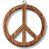 Bayong Wood Peace Sign Pendant