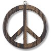 Black Wood Peace Sign Pendant