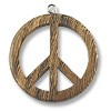 Robles Wood Peace Sign Pendant