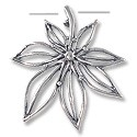 Pendant - Flower 34x32mm Sterling Silver