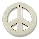Pendant - Peace Sign 35mm Wood