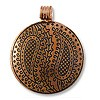 Metal Pendant 42mm Antique Copper