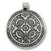 Metal Pendant 42mm Antique Nickel Silver