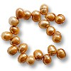 Freshwater Potato Pearl Lt Copper 8-9mm Top Drilled (16