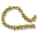 Freshwater Potato Pearl Nugget Gold 9-10mm (16