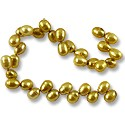 "Freshwater Rice Pearl Verde Gold 6-7mm (16"" Strand)"