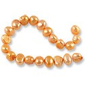 "Freshwater Potato Pearl Nugget Orange Sherbet 8-9mm (16"" Strand)"