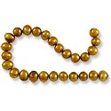 Freshwater Potato Pearl Antique Gold 6-7mm (16
