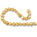 "Freshwater Potato Pearl Nuggets Orange Sherbet 7-8mm (16"" Strand)"
