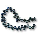 "Freshwater Rice Pearls Top Drilled Midnight Blue/Teal Mix 4-5mm (16"" Strand)"