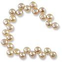 "Freshwater Button Pearls Peach Top Drilled 9-9.5mm (16"" Strand)"