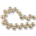 "Freshwater Button Pearls Top Drilled Peach 10-11mm (16"" Strand)"