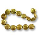 Freshwater Coin Pearls Antique Gold 13-14mm (16