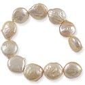 Freshwater Coin Pearls Lavender/Peach 13-14mm (16