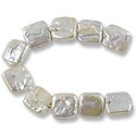 Freshwater Coin Pearls Chunky Square White 12-14mm (16