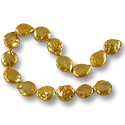"Freshwater Coin Pearls Baroque Tangerine 12-13mm (16"" Strand)"