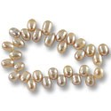 Freshwater Rice Pearls Lavender/Peach 8-9mm (16