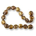 "Freshwater Coin Pearls Antique Bronze 10-11mm (16"" Strand)"