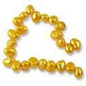 Freshwater Potato Pearl Baroque Nuggets Brite Gold T.D. 8-9mm (16