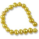 Freshwater Potato Pearl Nuggets Gold 7-8mm (16