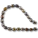 "Freshwater Rice Pearls Grey/Brown Mix 4-5mm (16"" Strand)"