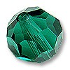 Swarovski 5000 10mm Emerald Round Bead (1-Pc)