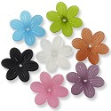 Resin 6 Petal Hippie Flower Beads 25mm Assorted Colors (1 ounce bag)
