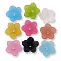 Resin 5 Petal Bell Flowers 12mm Assorted Colors (1/2 ounce bag)