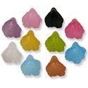 Resin Trumpet Flower Beads 12mm Assorted Colors (1/2 ounce bag)
