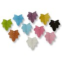 Resin Leaf Beads 24mm Assorted Colors (1 ounce bag)