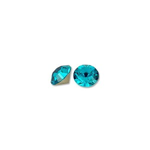 Swarovski Xilion Rose Chatons 1028 6mm Blue Zircon (5-Pcs)
