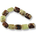 "Rutilated Quartz Rectangle Beads 20x16mm (16"" Strand)"