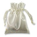 Satin Jewelry Pouch 3x4 Ivory (10-Pcs)