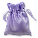 Satin Jewelry Pouch 3x4 Lavender (10-Pcs)