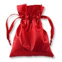 Satin Jewelry Pouch 3x4 Red (10-Pcs)