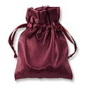 Satin Jewelry Pouch 3x4 Burgundy (10-Pcs)