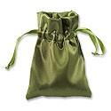 Satin Jewelry Pouch 3x4 Olive (10-Pcs)