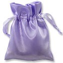 Satin Jewelry Pouch 4x5 Lavender (10-Pcs)