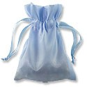 Satin Jewelry Pouch 4x5 Lt Blue (10-Pcs)