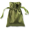Satin Jewelry Pouch 4x5 Olive (10-Pcs)