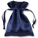 Satin Jewelry Pouch 4x5 Navy (10-Pcs)