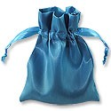 Satin Jewelry Pouch 4x5 Turquoise (10-Pcs)