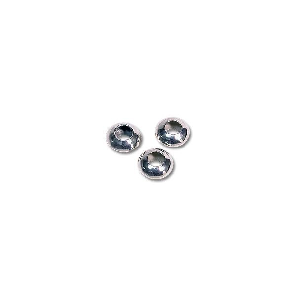 Saucer Beads 4x2mm Sterling Silver (4-Pcs)