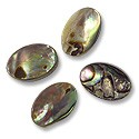 Beads Abalone Ovals 12x8mm (4-Pcs)