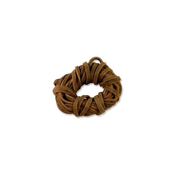 Suede Lace Cord 3mm Brown (15 Foot Pack)