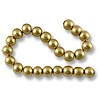 Wood Beads Round 7mm Gold (16